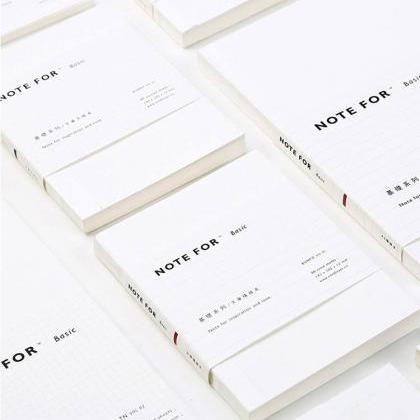 White Plain Notebook (Lined/Grid/Bl..