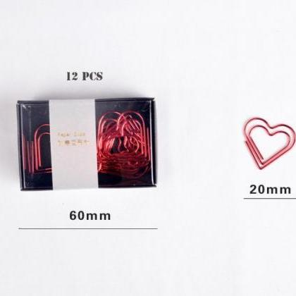 Romantic Red Heart Shape Paper clip..