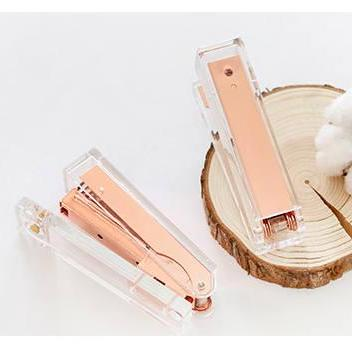 Rose Gold Stapler with Staples |Tra..
