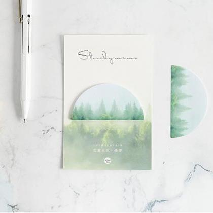 Forest Landscape Sticky Notes Memo ..
