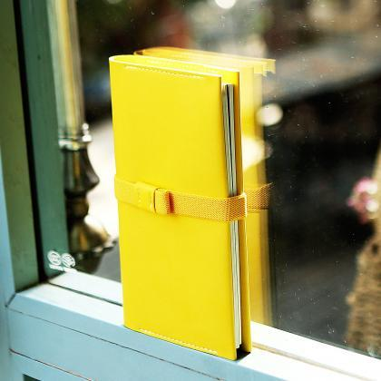 Refillable Notebook with Pen Holder..
