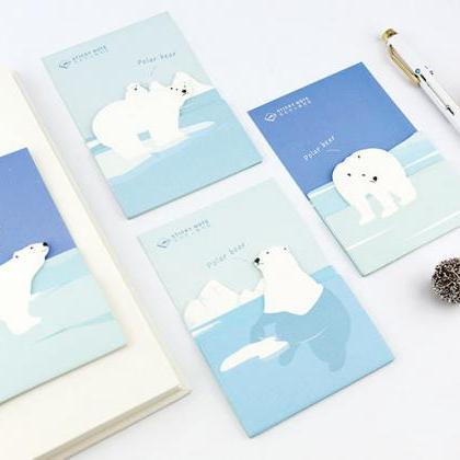 Polar Bear Sticky Notes | Bear Memo..