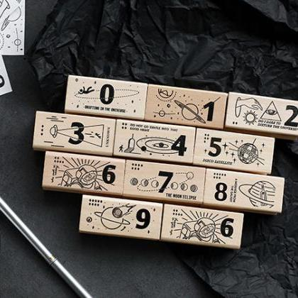 Galaxy Wooden Stamp Set | Number St..