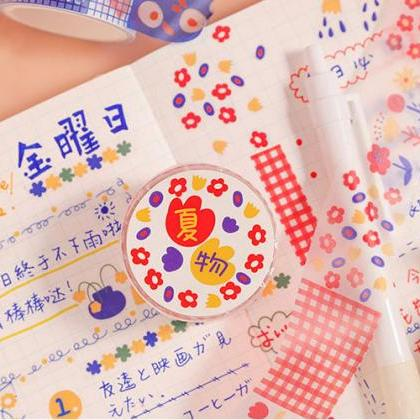 Lisa's Floral Skirt Washi Tape Coll..