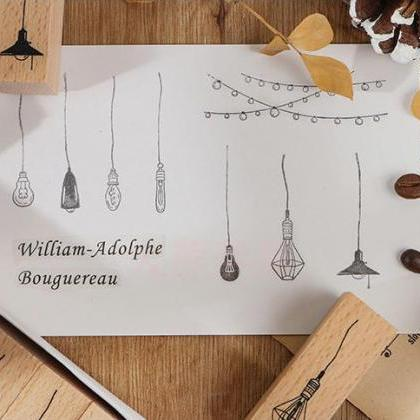 Hanging Light Bulb Stamp Collection..