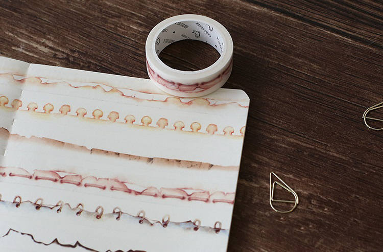 Vintage Coffee Stain Washi Tape | Vintage Burnt Masking Tape | Old Burnt Paper Masking Tape | Tea Stains Washi Tape | Washi Masking Tape