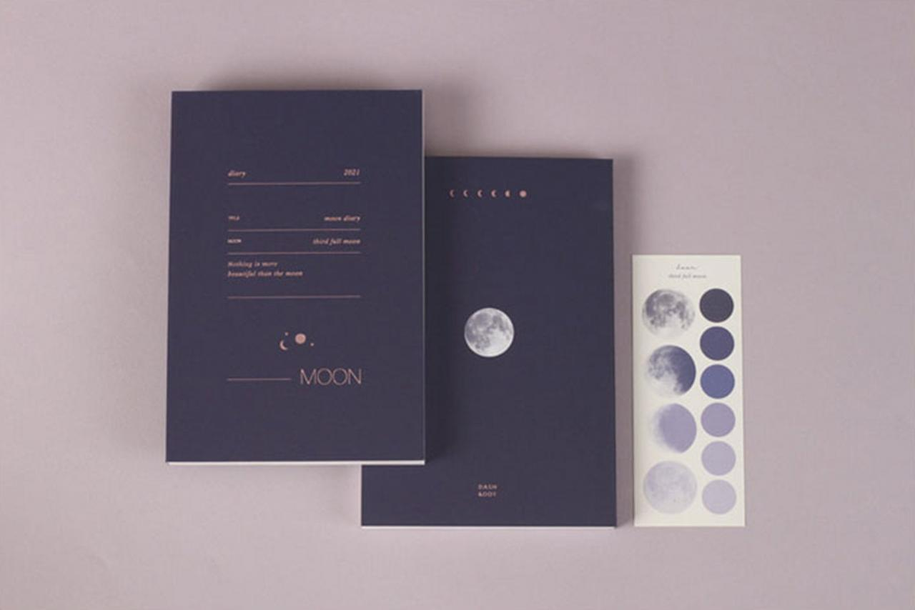 2021 Moon Planner - Weekly & Monthly - 6 Colors | 2021 Weekly Planner | 2021 Monthly Planner | 2021 Diary Journal Agenda | Planner Notebook