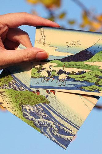36 Scenes of Fuji Mountain Postcards Collection (46pc) | Ukiyo-e Post Card Sets | Hand Drawing Post cards Box | Vintage Japanese Postcards |