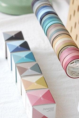 Palette Washi Tapes Pack of 4 | Masking Washi Tape Set | Colors Masking Tapes | Simple Washi Tape Japan MT | Deep Masking Tape Dark