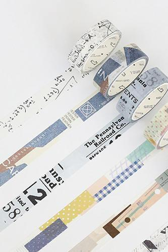 Collage Washi Tape Collection | Patchwork Washi Masking Tapes | Notes Washi Tape Set | Printing Masking Tape | Art Washi Tape | Planner Tape