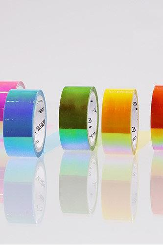Hologram Masking Tape Set | Rainbow Masking Tape | Shiny Masking Tape Sparkling Tape Glossy | Washi Masking Tape MT Design Stylish Tapes