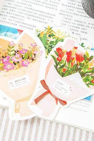 Flower Bouquet Post Card Collection (30pc) | Floral Post Cards Set | Blossom Postcard | Bloom Postcards | Spring Memo Card | Flower Greeting