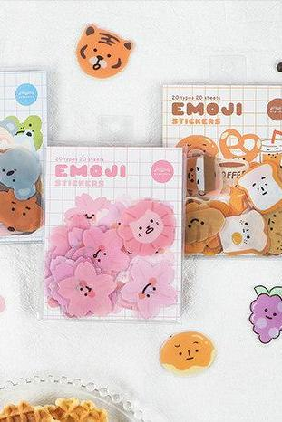 Emoji Stickers Pack | Animal Little Sticker | Bread Sticker | Sakura Scrapbook Sticker Set | Planner Sticker Sheet | Label Laptop Sticker |