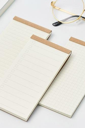 Basic Notepad - (To Do List/Lined/Grid/Blank) Checklist Shopping List Memo Sticky Note | Memo Pad Set | Sticky Note Pack Simple Memo Sticky