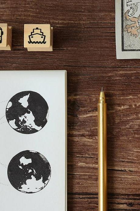 Wooden Stamp Vintage Looking | Rubber Postage stamp chop | Wood Rubber Seal | Scrapbook stamp | Notebook Stamp | Travel Stamp |Stylish stamp