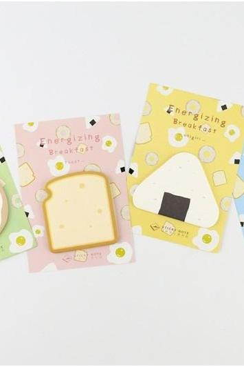 Breakfast Sticky Notes | Food Memo Notes | Doughnut Sticky Notes | Donut Memo Pad | Egg Notepad | Egg Stickies | Back to School