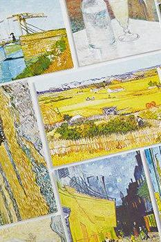 Van Gogh Postcard Collection (30pc) | Starry Wheat Field Art Post Cards Set | Hand Drawing Greeting Card | Vintage Post Card | Shaped Card