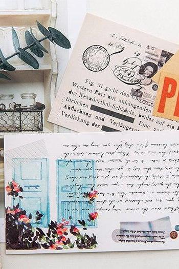 Old Time Manuscript Letter Postcards Collection (30pc) | Retro Post Card Set | Vintage Literary Post cards Box | Peace Greeting Postcards |