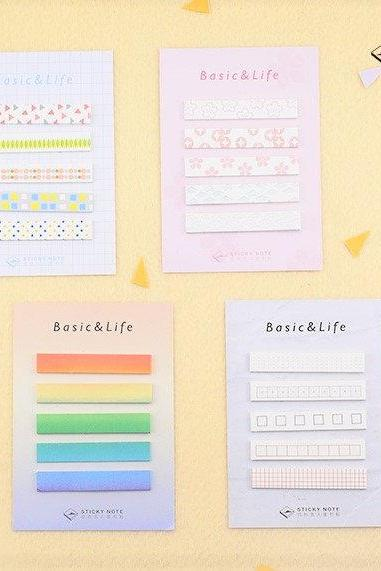 Every Basic Sticky Notes Set | Rainbow Memo Notes | Gradient Color Fade Sticky Notes Pack | Japan Memo Note Pad | Grid Sticky Memo Norway