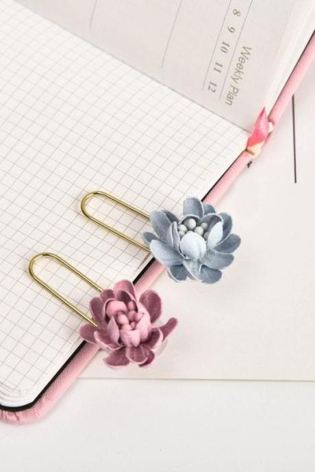 Simplified Flower Paper Clips | Petal candy color Paperclip | Funny Paper Clip | Japan Paper Clip | Unique Paper Clip| Shape Bookmark clip