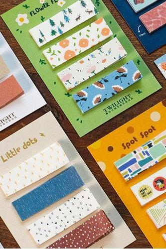 Combination Sticky Notes Set | Spot Stripe Memo Notes | Fruit Flower Sticky Notes Pack | Japan Memo Note Pad | Cutie Sticky Memo Norway