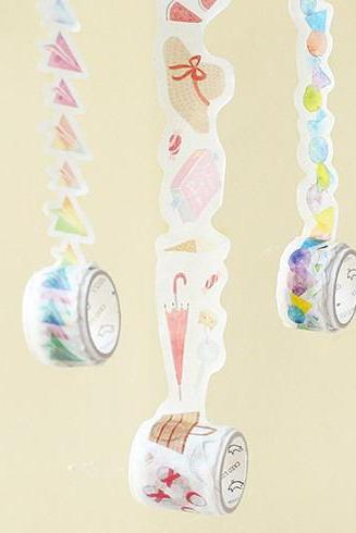 Special Shaped Washi Tape Collection | 3D Masking Tapes Set | 3-D Washi Tape Set | Cut Shape Masking Tape | Washi Masking Tape Pieces