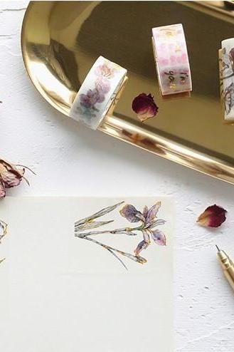 Gold Embossed Washi Tape Collection | Dessert Masking Tape | Space Washi Tapes | Crystal Ball Masking Tape | Birds and Plants masking tapes