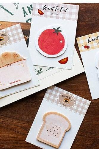 Groceries Sticky Notes | Groceries Memo Notes | Groceries Sticky Notes |Hand drawing Groceries Memo Pad |Groceries Notepad Adhesive paper