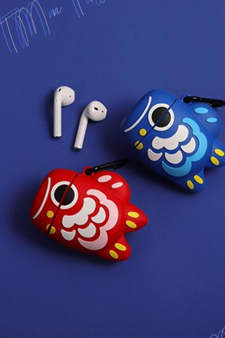 Lucky Japanese Nishikigoi airpods 1 and 2 case | Cutie Silicone Japanese Koi Fish airpods 1 and 2 case