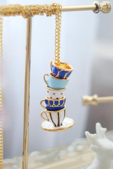 Teacup Necklaces | Afternoon Tea Necklace | Cute Jewelry | Cute Necklace| Long Necklace |Handmade